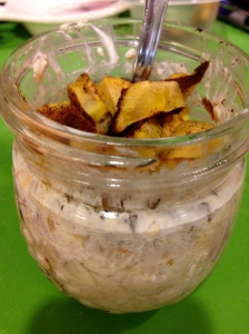 overnight oats with cooked plantain