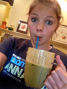 pumpkin smoothie with greens