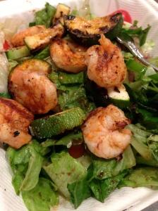 shrimp kebob salad from Zoe's Kitchen