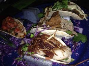 taco tuesday! Scallop, veggie, and shrimp tacos