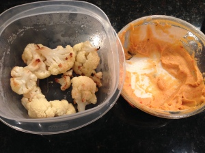 cauliflower and red pepper hummus