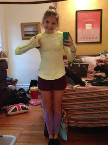 going out to run in shorts in December!