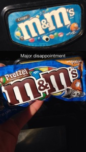 thought I was going to get crispy m&ms; guess I should stick to not buying vending machine candy