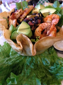 lunch- fiesta shrimp salad