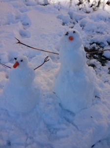 Shane and my snowman/woman
