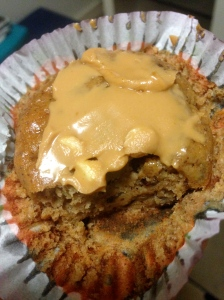 pumpkin banana muffin with peanut butter x3