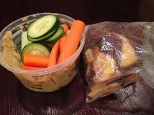 post Thanksgiving hummus and veggies/veggie chips