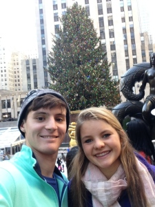 yearly Rockefeller center tree picture