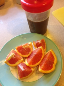 orange and coffee protein shake