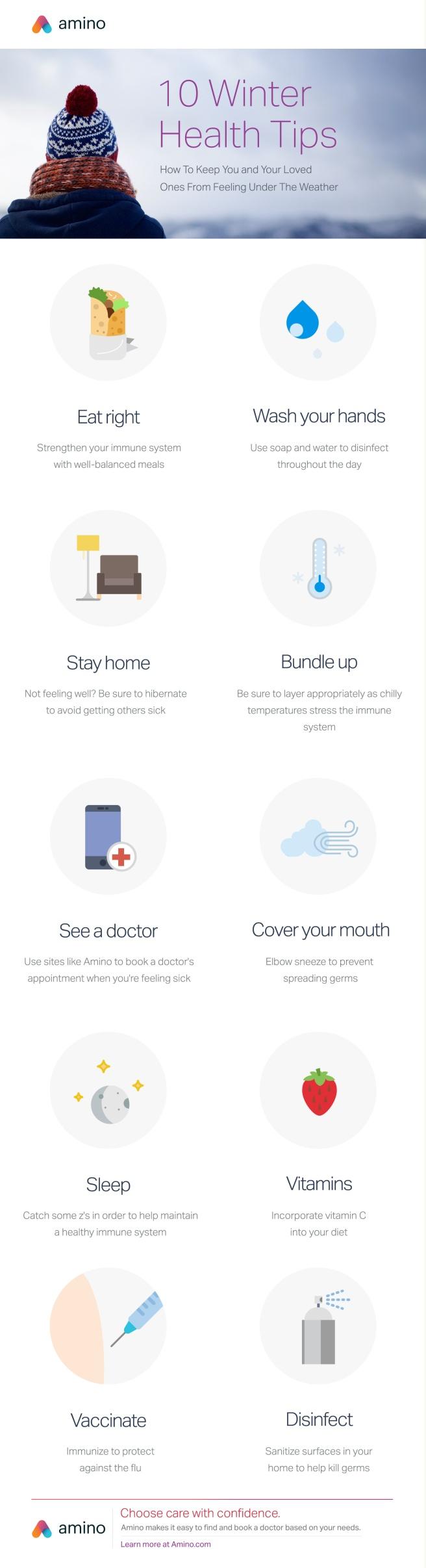Amino Winter Health Tips
